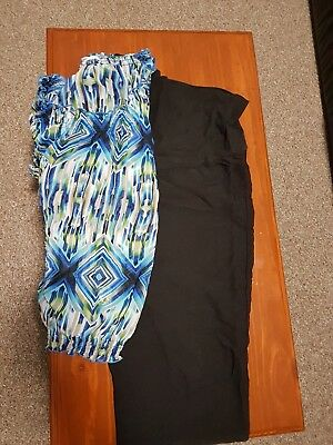 Bundle Lot Pumpkin Patch Maternity black work Pants & bonus Top sizing 18/20