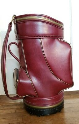 Fairway Golf Bag Trash Caddy Trash Waste Den Can  Leeds Fairway Delware 20""
