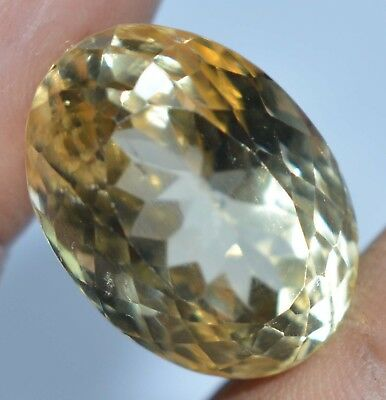 VVS 20.20 Ct Natural Yellow Citrine Untreated AAAA+++ Oval AGSL Certified Gem