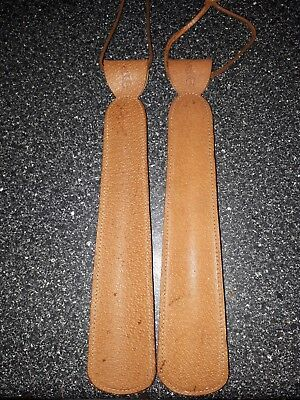 Ralph Lauren polo pair of shoe horns tan colour vgc