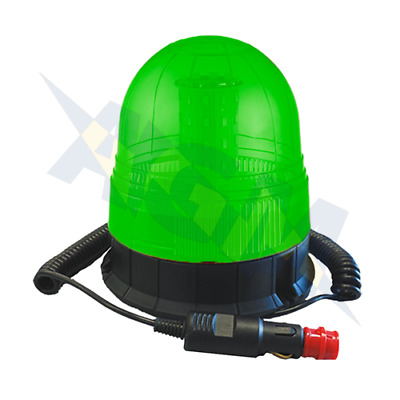 Durite 4-445-60 Magnetic Mount Multifunctional Green LED Beacon, 12/24v