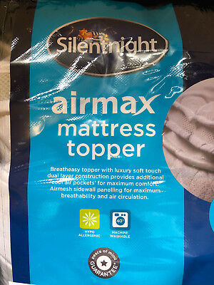 silent night air max mattress topper king size