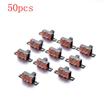CHEERBRIGHT 50Pcs 3 Pin 2 Position SPDT 1P2T Mini Micro Vertical Slide Switch