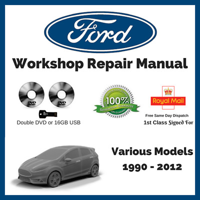 Ford Car Workshop Manual Double DVD   ALL Models Cars Vans   1990 to 2012