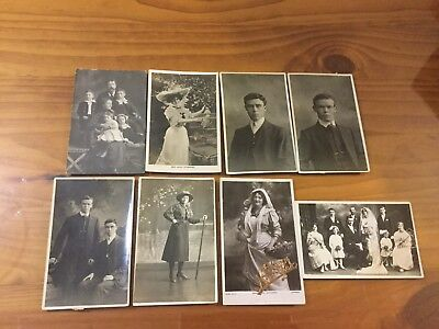 Vintage Collectable Postcards X 8  ( People  Photo )