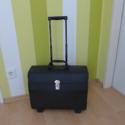 Samsonite Pilotenkoffer Aktenkoffer Businesstasche Trolley auf Rollen+Laptoptasc
