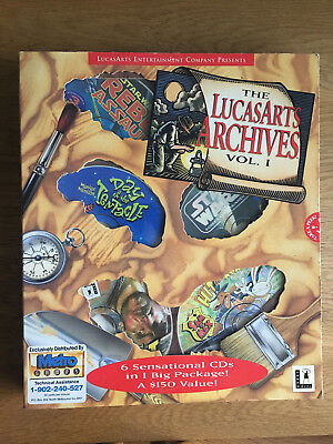 The Lucasarts Archive 1 - PC Games Set Complete Boxed