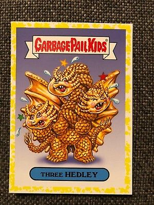 Garbage Pail kids Oh the Horror-ible Three Hedley Yellow Border