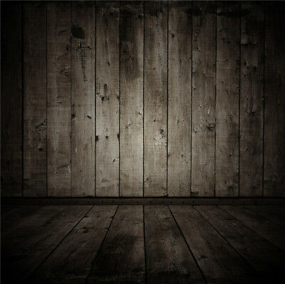 Vinyl Retro old Wood Wall Floor Studio Backdrop Photography Background 5X7FT LB