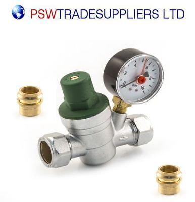 Adjustable Pressure Reducing Valve - 15/22mm.