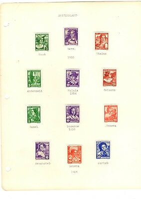High Quality Swiss Stamps/mint-Hinged On Pages