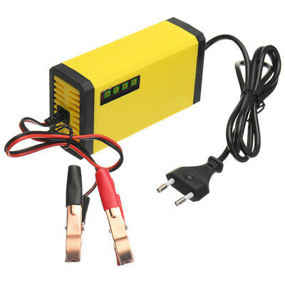 ABS AC 110V Motorcycle Motorbike Battery Charger Automatic Smart Trickle U K