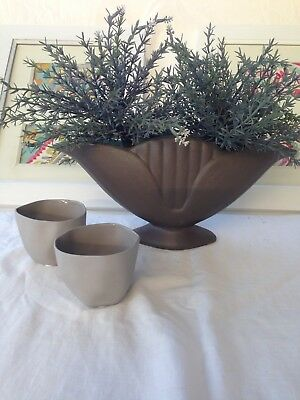 Vintage Retro Vase And 2 Amalfi Candle Holders.   Pick Up Greensborough 3088