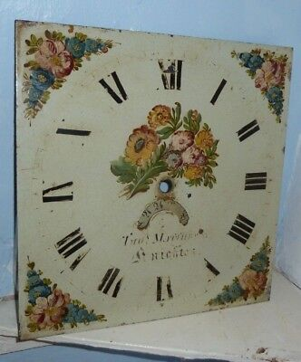 "12"" Longcase Grandfather clock painted 30 hour dial"