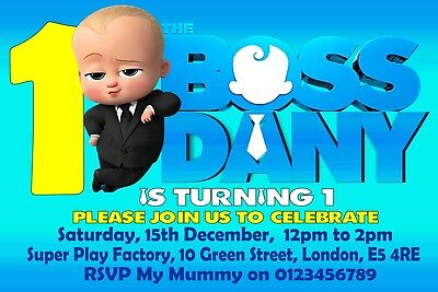 The Boss Baby Personalised Birthday Party Invitations Invites X 10
