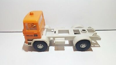 Vintage Mercedes Truck Plastic Toy scale ca. 1:24 W.Germany unknown maker incom.