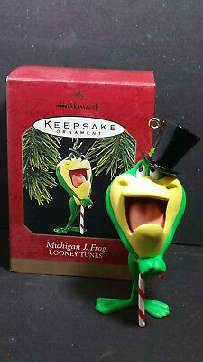 Hallmark Looney Tunes MICHIGAN J FROG 1997 Ornament One Froggy Evening MINT