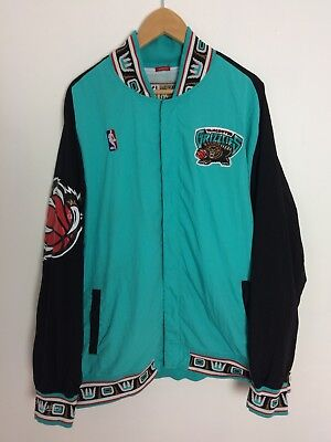 4163b79e457 VANCOUVER GRIZZLIES 1995-96 Authentic Warm Up Jacket Size 3XL Mitchell    Ness