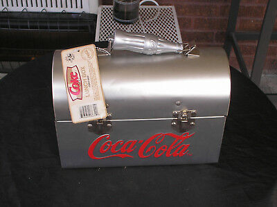 Coca-Cola LUNCH BOX (SILVER) METAL TIN (COOLEST LUNCH BOX