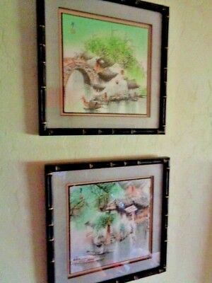 Ink Wash/Watercolor Paintings, Traditional Japanese Scenes