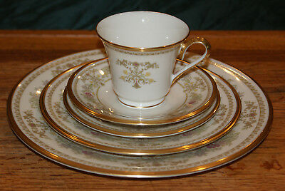 Five Piece Place Setting of Lenox Castle Garden China Made in USA