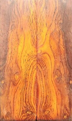High Figure Nicaraguan Cocobolo Rosewood Knife Scales