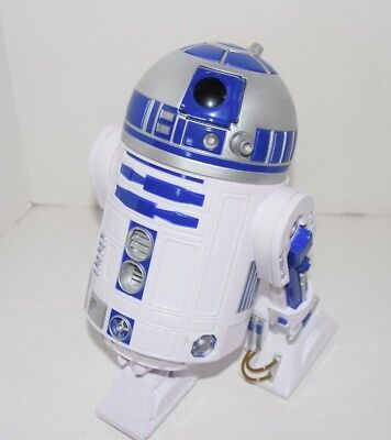 Star Wars Disney Store Electronic R2D2 Droid Lights Sounds Movement 2015 Works