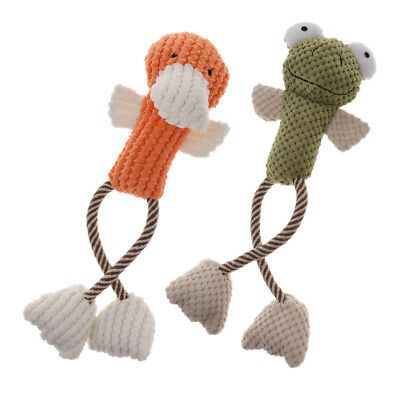 Playful Cartoon Duck Frog Animals Squeak Toy Dog Puppy Exercise Sound Toys