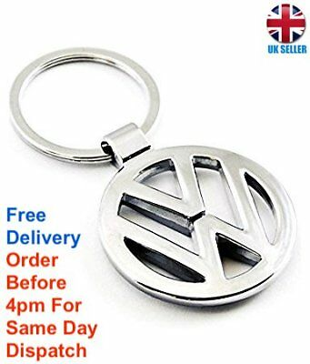 Volkswagen Vw 3D Chrome Key Ring Chain Keyring Keychain Golf Passat Touran Caddy