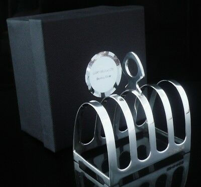 NEW Scottish Silver Toast Rack (boxed) Letter Rack, 25th Anniversary Gift