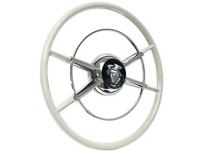 1956 ford victoria horn ring 25 00 picclick Custom Steering Wheels 1955 Thunderbird the white crestliner steering wheel silver mercury kit gm adapter