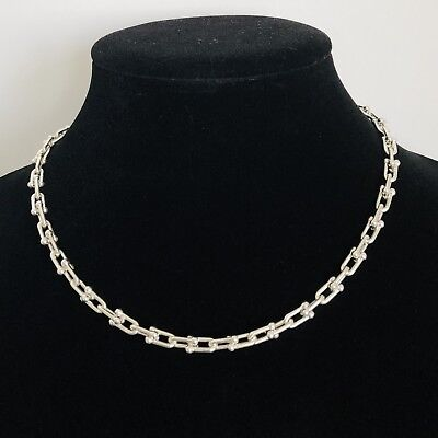 Tiffany & Co. Sterling Silver Hardwear Micro Link Necklace/ 17""