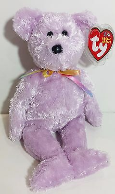 "TY Beanie Babies ""SHERBET"" the Lilac/Lavender Teddy Bear - New w/ Tags - MINT!"