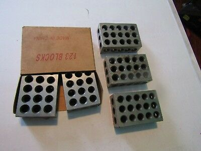 5 pc 1x2x3 inch steel blocks 23 Holes Parallel Clamping Milling Lathe CNC Tool