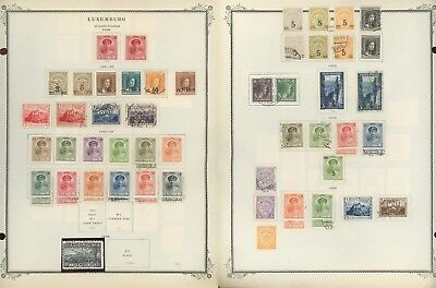 Luxembourg Scott International Album Page Lot #25 - SEE SCAN - $$$