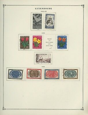 Luxembourg Scott International Album Page Lot #29 - SEE SCAN - $$$