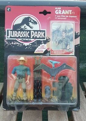 1993 Jurassic Park Action figure - Alan Grant with Aerial Net Trap MOC