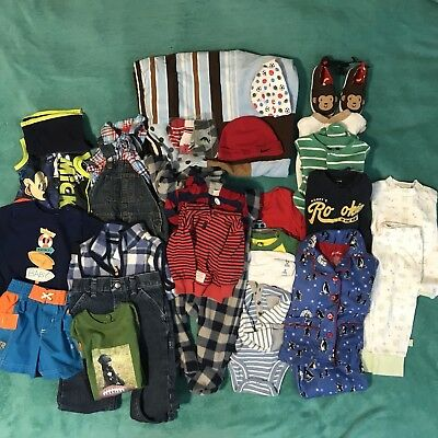 Lot of boys clothing Size Newborn to 24 months-New & Pre-owned-Over 25 pieces