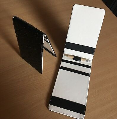 Golf Score Card Holder - Faux Leather - Black/White