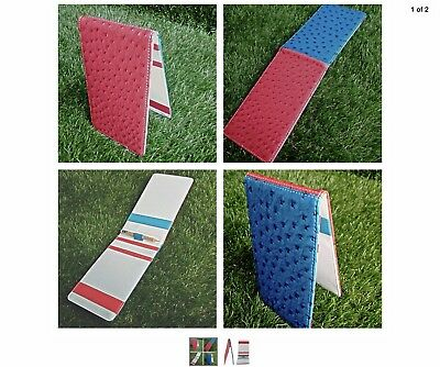 Golf Score Card Holder - Faux Leather - Red/White/Blue USA Ryder Cup