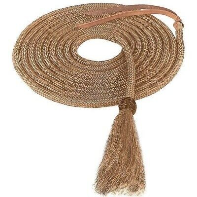 """Weaver Leather Braided Nylon Mecate with Horsehair Tassel - 1/2"""" x 23'"""