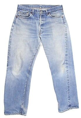Levi's Not Big E Vtg 70s 588 33 x 29 501 Jeans Distressed Selvedge Redline AS IS