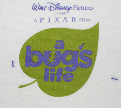 Rare Disney / Pixar A BUG'S LIFE cast / crew T-shirt with early logo from 1998