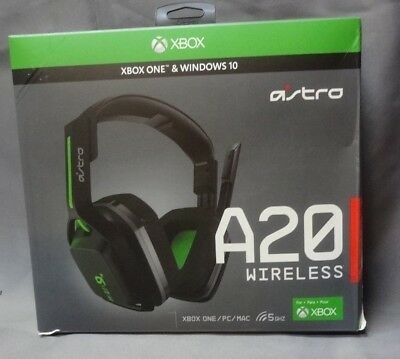 Astro Gaming A20 Wireless Headset - Black/Green - Xbox One *READ AD* (CL261)