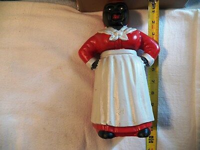 Cast Iron Aunt Jemima Bank. App 11 Inches Tall. Nice Condition.