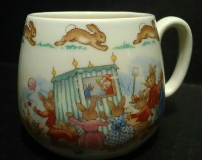 Bunnykins Punch & Judy Royal Doulton England 1 Handle Mug