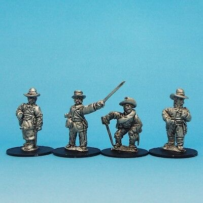 1st Corps, 28mm American Civil War Officers on foot in Slouch Hat ACW