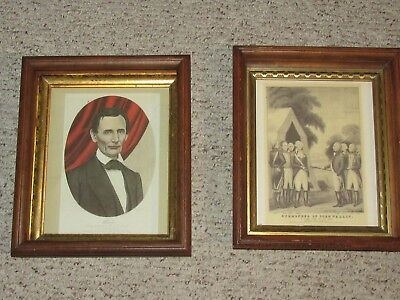 Vintage Currier & Ives Abraham Lincoln and George Washington Prints