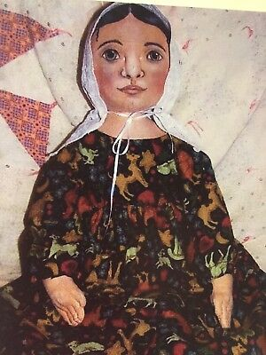 """Isabella Painted Prairie Doll Pattern 25"""" - Sue Sizemore-New Uncut"""