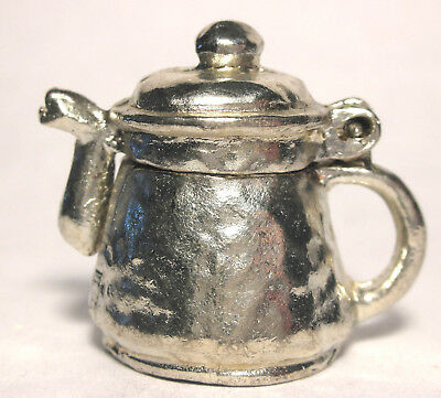 """Very Cute Pewter Teapot Thimble Only 1"""" Tall"""